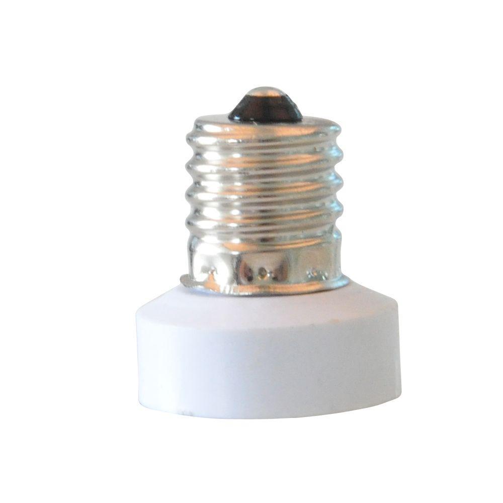 Adamax Intermediate To Candelabra Base E17 To E12 Lamp Adapter