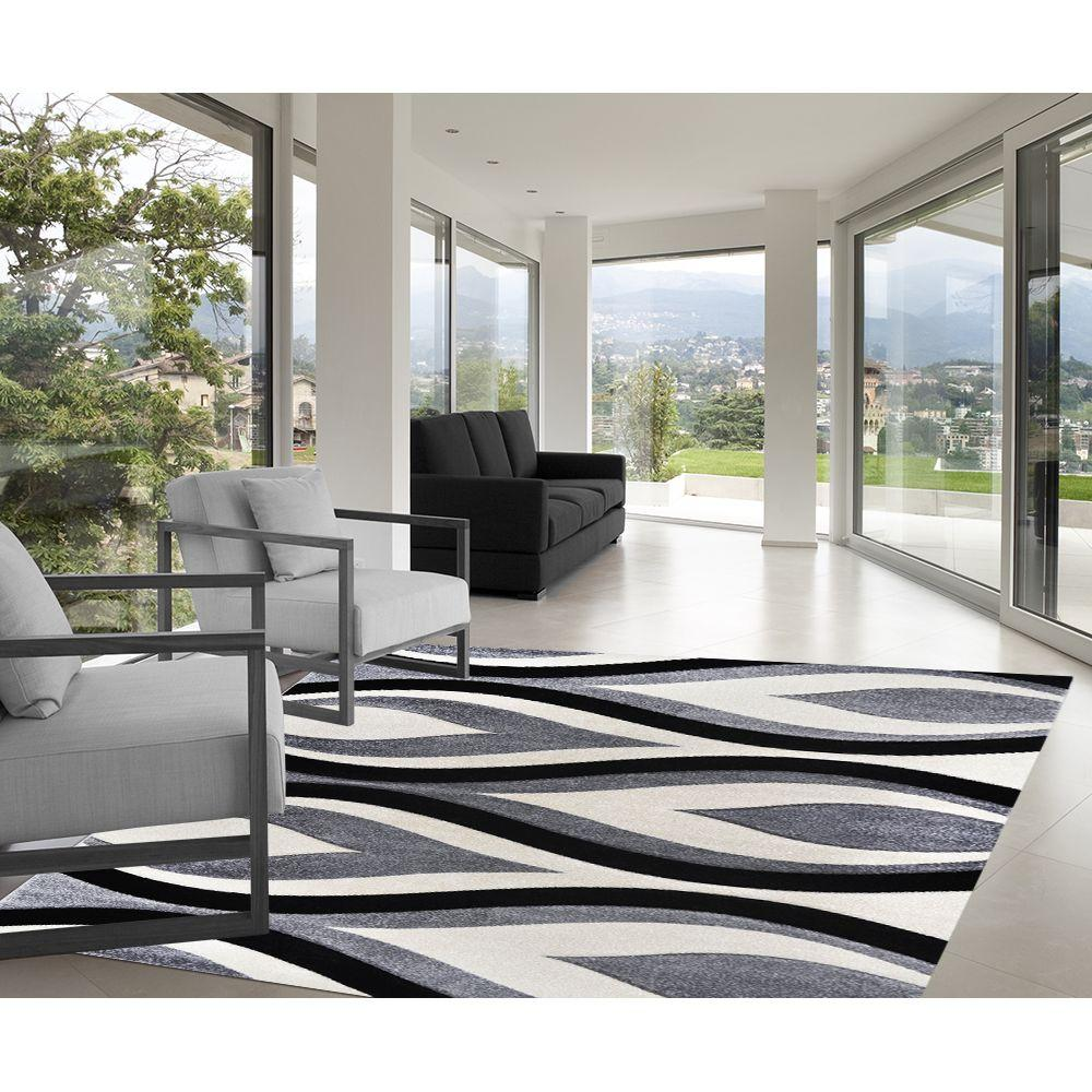 Home Dynamix Sumatra Gray 5 ft. 2 in. x 7 ft. 2 in. Area Rug