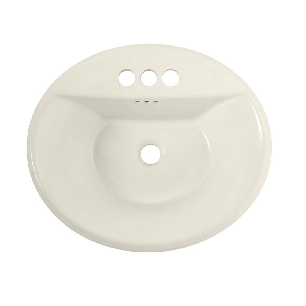 American Standard Tropic Self-Rimming Bathroom Sink in Linen ...
