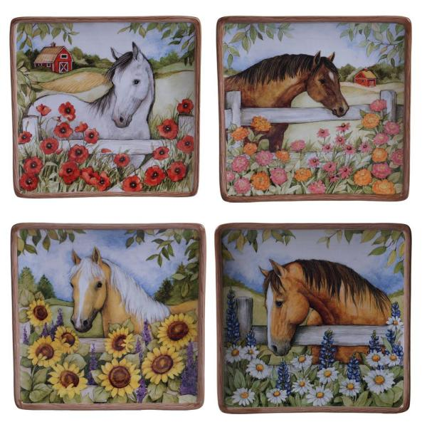 Heartland 8.5 in. Multi-Colored Salad Plate (Set of 4)