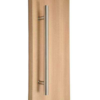 Ladder Style 72 in. x 1 in. Back-to-Back Brushed Satin Stainless Steel Door Pull Handle