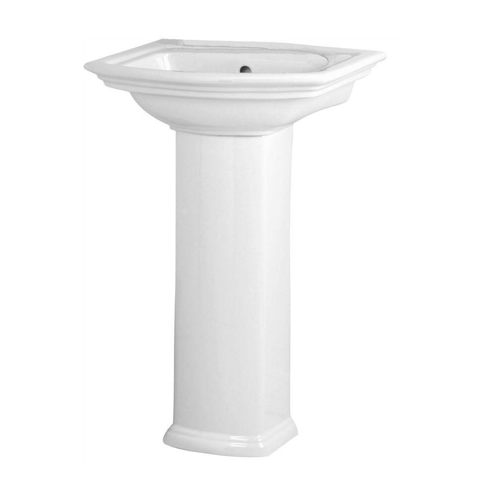 Washington 460 vitreous china pedestal combo bathroom sink - Home depot bathroom pedestal sinks ...