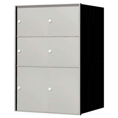 1,400 Series 6-Parcel Locker Recessed Horizontal Mailbox