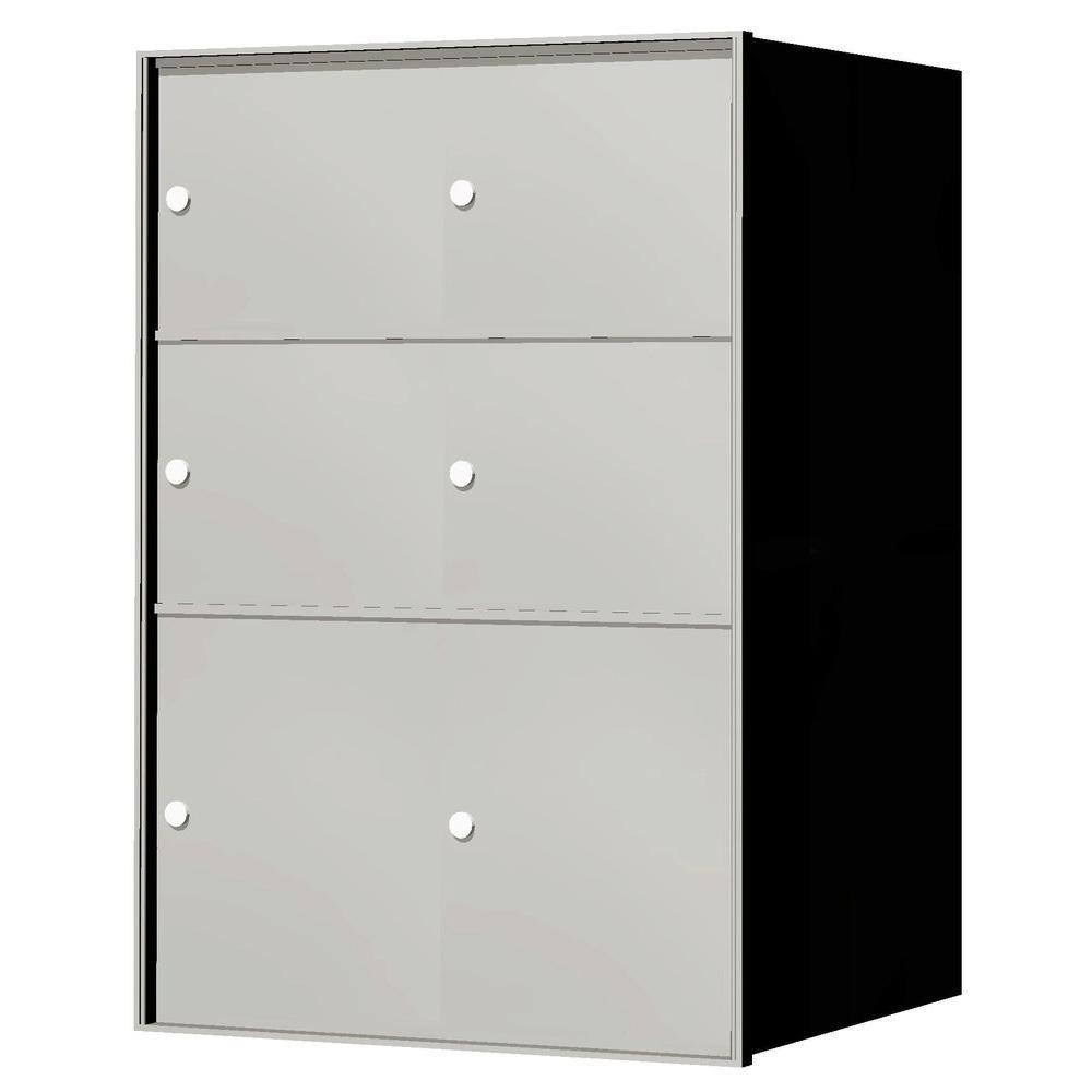 1,400 Series 6-Parcel Locker Recessed Horizontal Mailbox