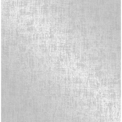 Asher Silver Distressed Texture Silver Wallpaper Sample