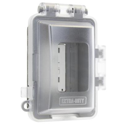 Clear 1-Gang Extra Duty Non-Metallic While-In-Use Weatherproof Horizontal/Vertical Receptacle Cover