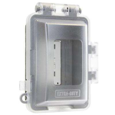 1-Gang Extra Duty Non-Metallic While-In-Use Weatherproof Horizontal/Vertical Receptacle Cover, Clear