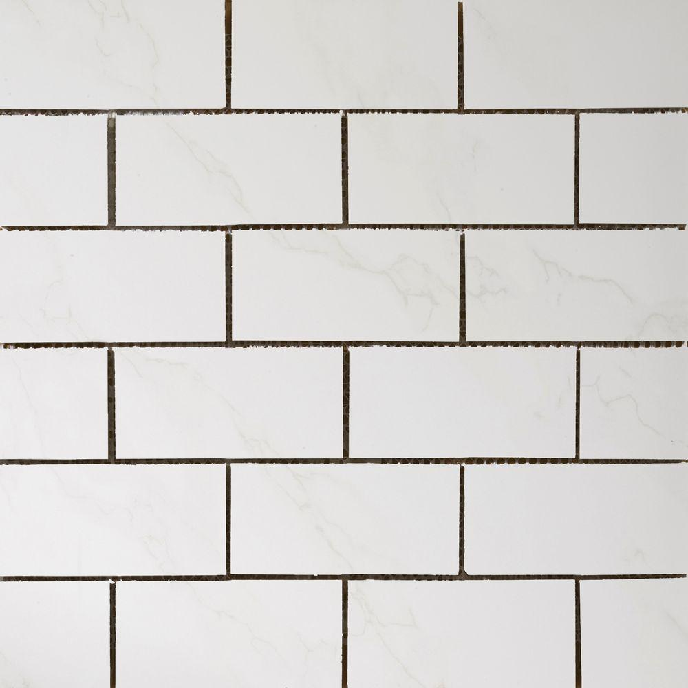 Emser Paladino Albanella 11-61/100 in. x 11-71/100 in. x 9 mm Porcelain Mesh-Mounted Floor and Wall Tile