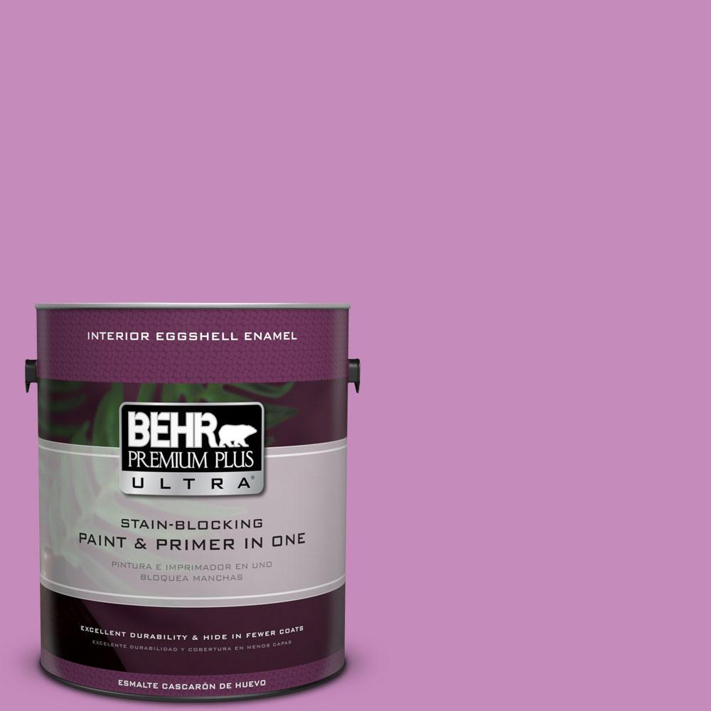 1-gal. #P110-4 Rock Star Pink Eggshell Enamel Interior Paint