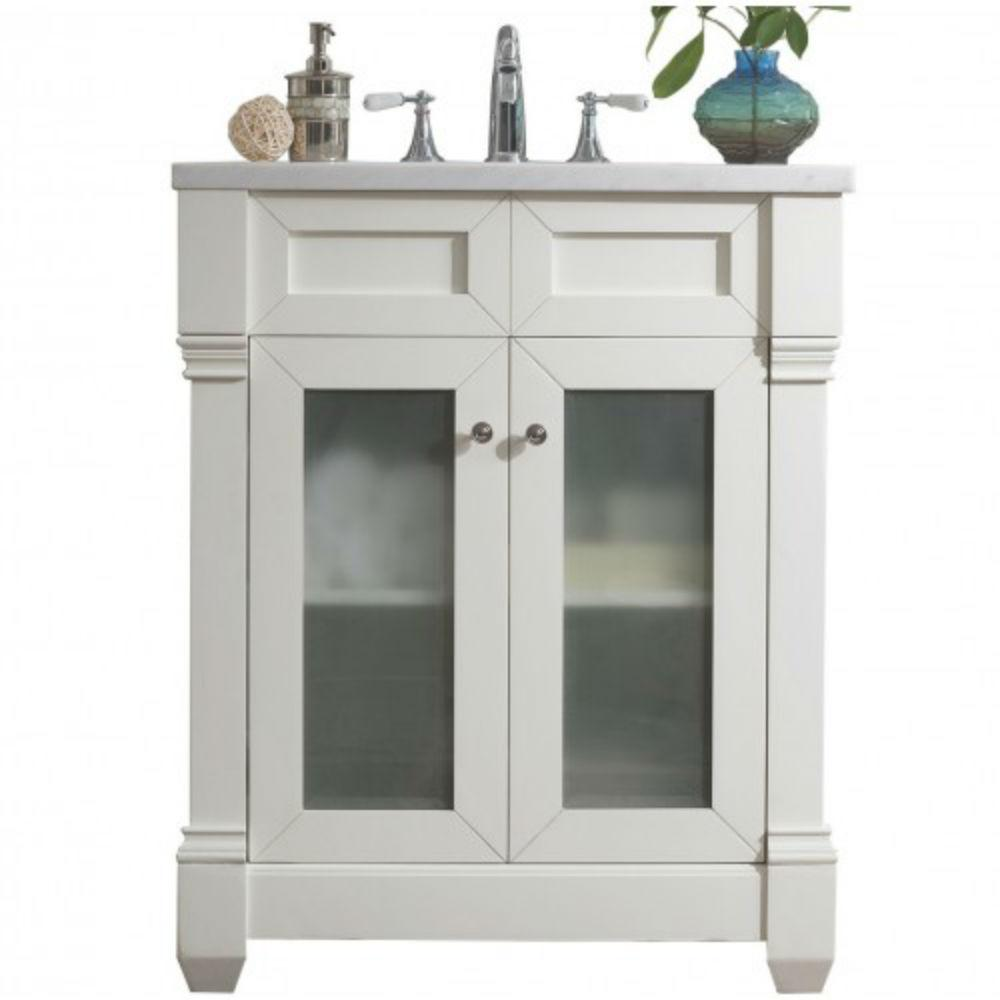 Home Decorators Collection Whitley 30 5 In W X In D Vanity In Dusk With Solid Surface