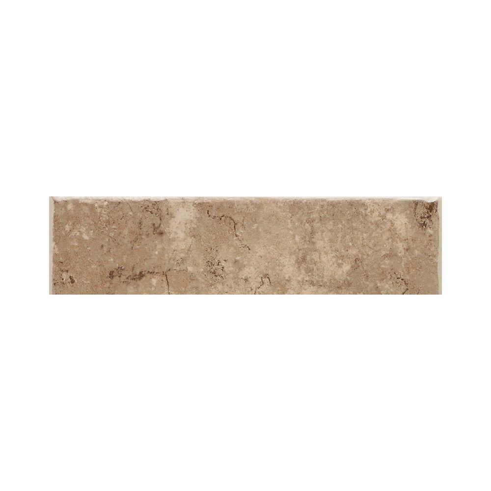 Daltile Fidenza Cafe 2 in. x 6 in. Ceramic Bullnose Wall Tile