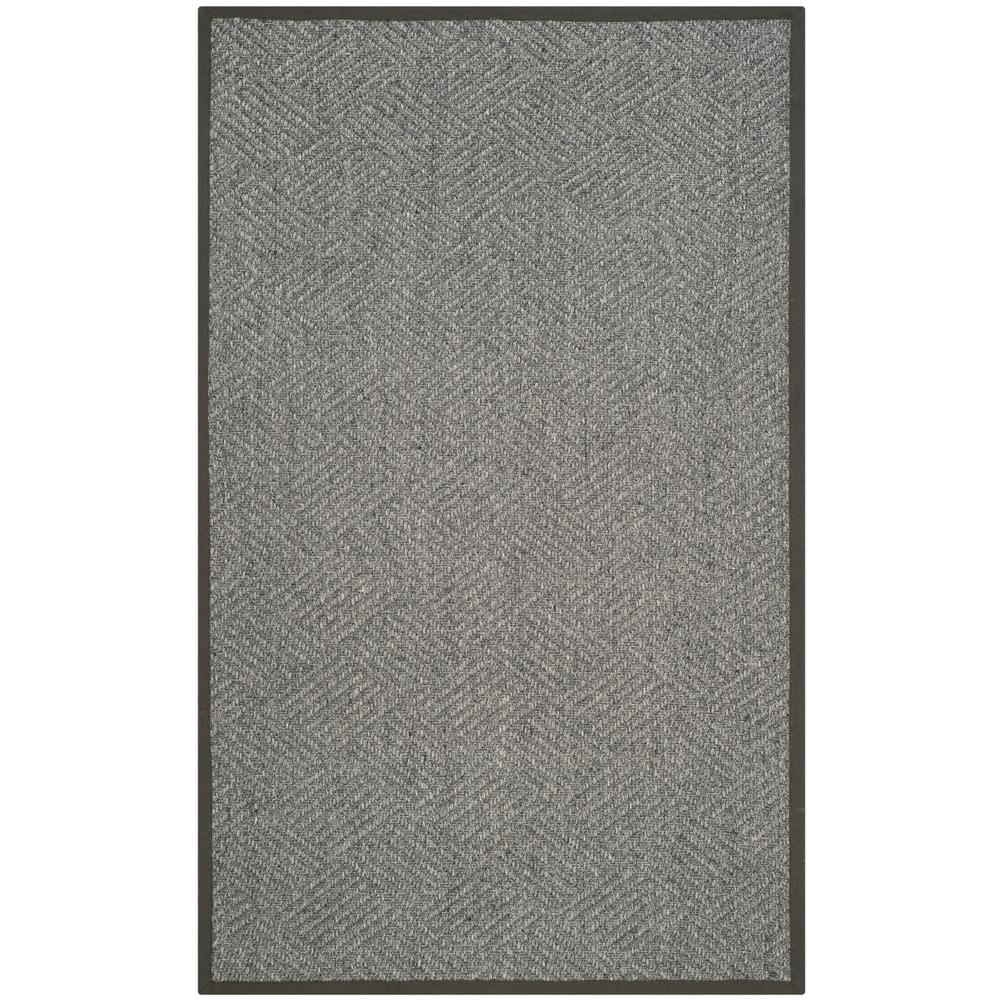 Natural Fiber Gray/Dark Gray 8 ft. x 10 ft. Area Rug