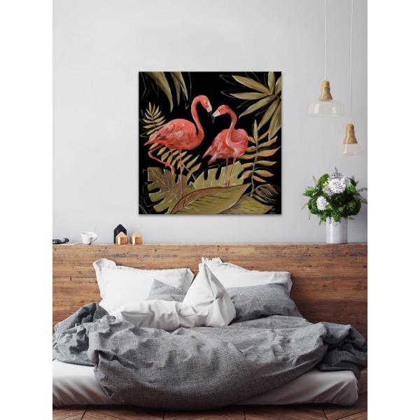24 In H X 24 In W Flamingos Sweetheart Ii By Marmont Hill Printed Canvas Wall Art Jultcn 31 C 24 The Home Depot