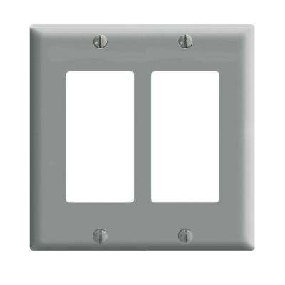 Decora 2-Gang Midway Nylon Wall Plate, Gray