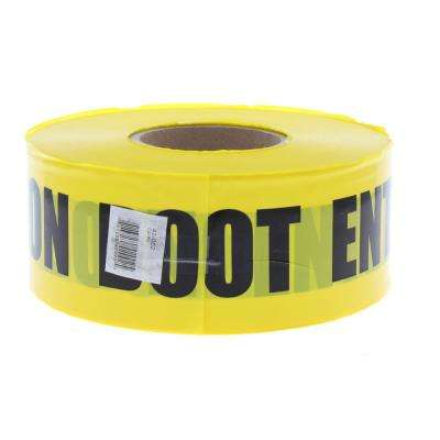 3 in. x 1,000 ft. Barricade Tape Caution Do Not Enter, Yellow