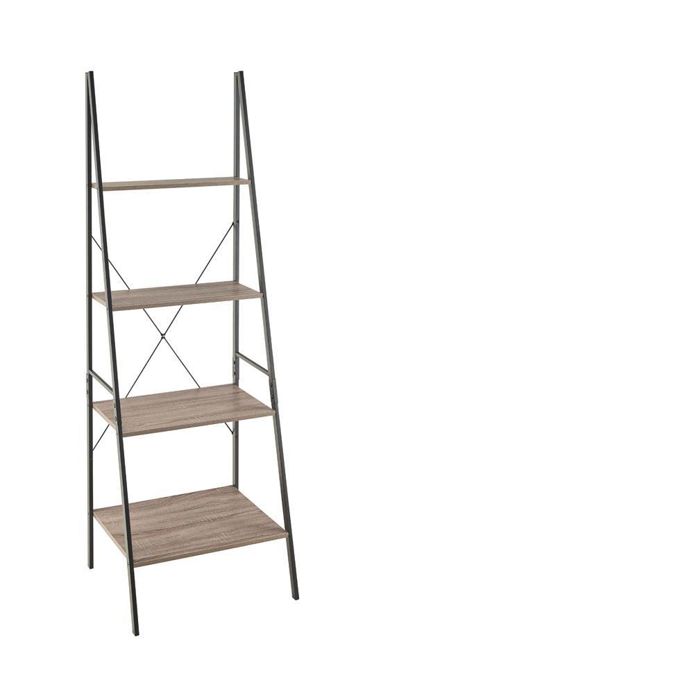ClosetMaid Mixed Material Storage Furniture 23.6 In W X 20 In. D Gray Ladder  Bookshelf
