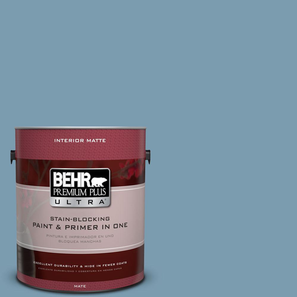 1 gal. #550F-4 Cool Dusk Flat/Matte Interior Paint