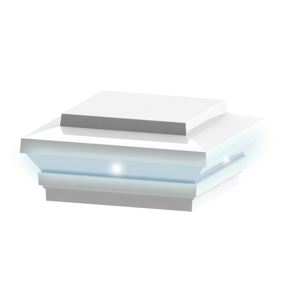 Zenith LED Post Top in Satin White