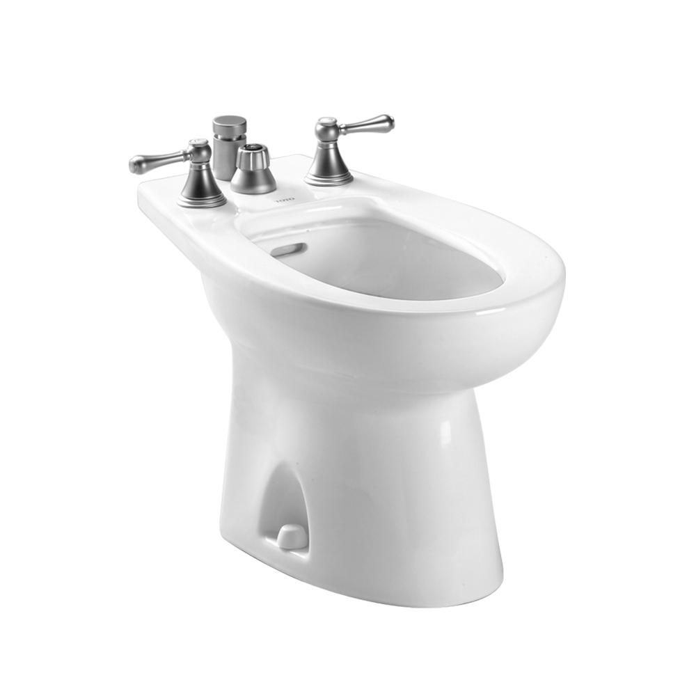 Toto Piedmont Elongated Bidet For Vertical Spray In Cotton White Bt500b 01 The Home Depot