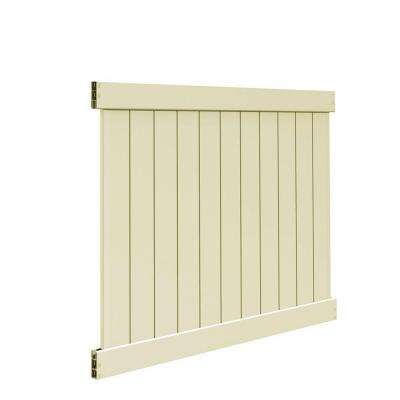 Washington 5 ft. H x 6 ft. W Sand Vinyl Un-Assembled Fence Panel