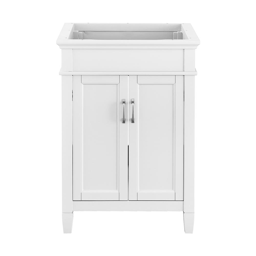 Home Decorators Collection Ashburn 24 in. W x 21.63 in. D Vanity Cabinet in White