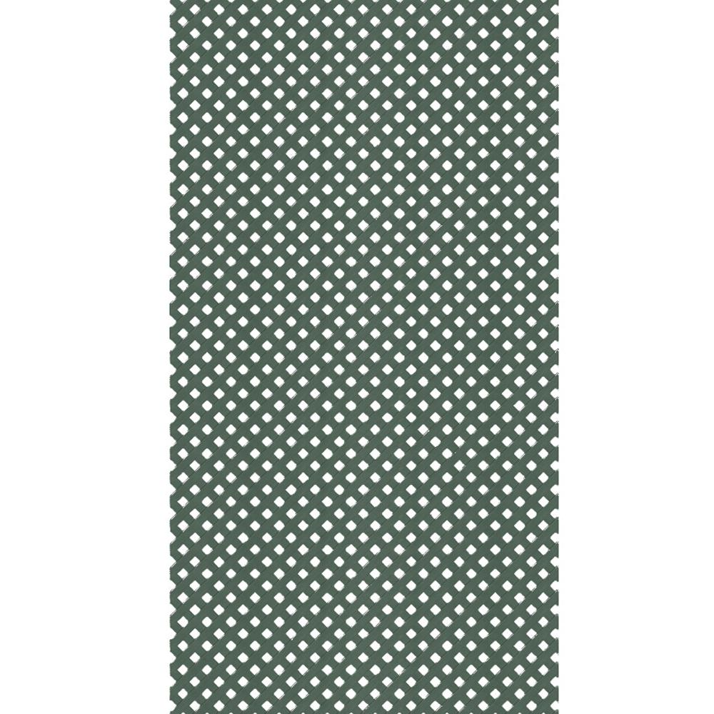Veranda 4 ft. x 8 ft. Woodland Green Privacy Vinyl Lattice