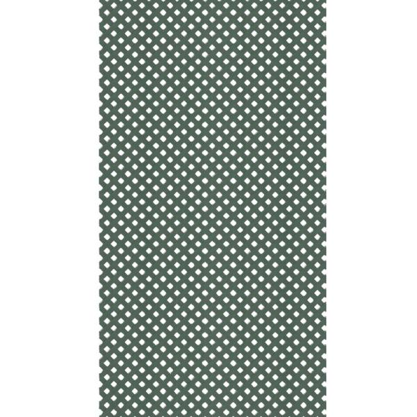 4 ft. x 8 ft. Woodland Green Privacy Vinyl Lattice