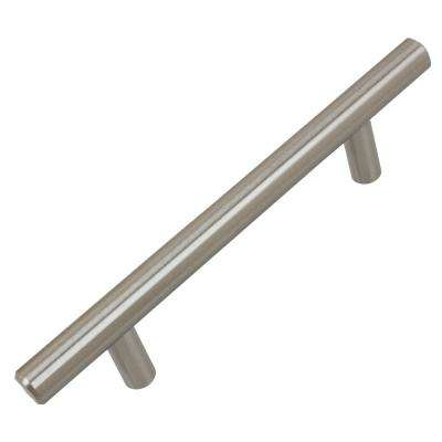 3-3/4 in. Center-to-Center Stainless Steel Finish Solid Handle Bar Pulls (10-Pack)