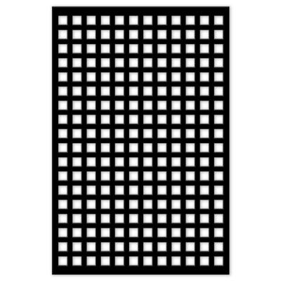 Square 32 in. x 4 ft. Black Vinyl Decorative Screen Panel