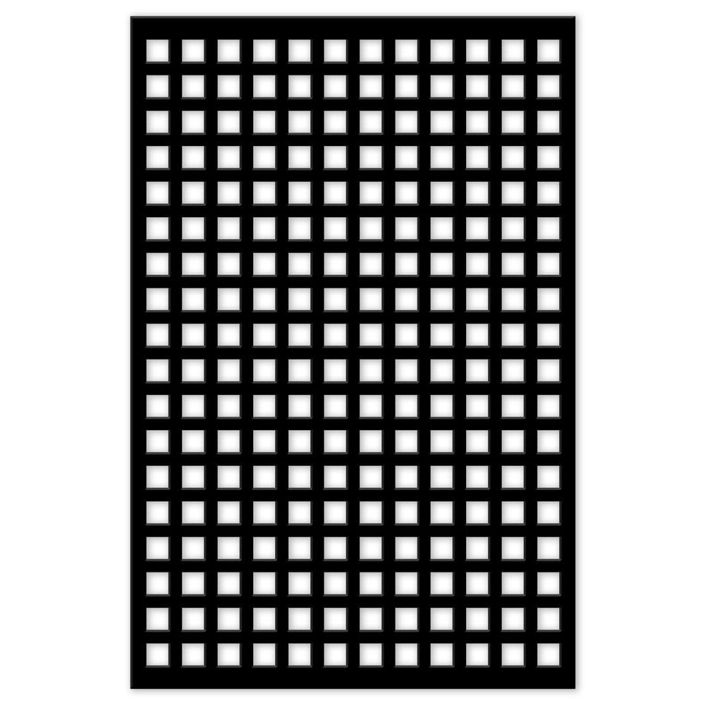 Acurio Latticeworks 1 4 In X 32 In X 4 Ft Black Square
