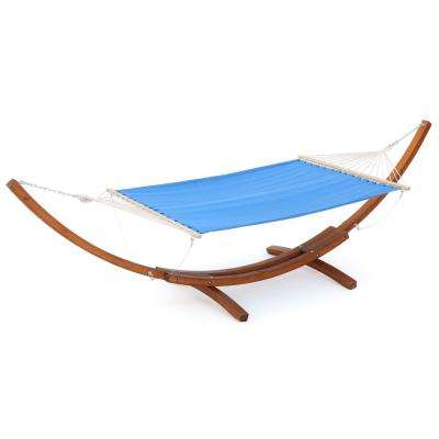 13.69 ft. Free Standing Blended Fabric Hammock Bed in Light Blue