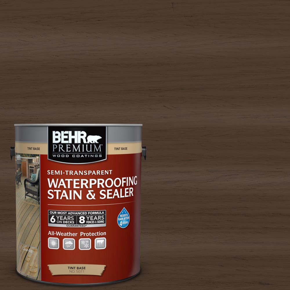 BEHR Premium 1-gal. #ST-111 Wood Chip Semi-Transparent Waterproofing Stain and Sealer