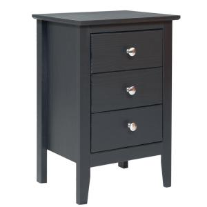 Easy Pieces 3-Drawer Espresso Nightstand by