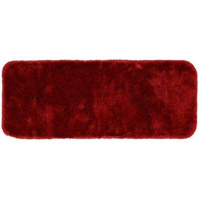 Finest Luxury Chili Pepper Red 22 in. x 60 in. Washable Bathroom Accent Rug