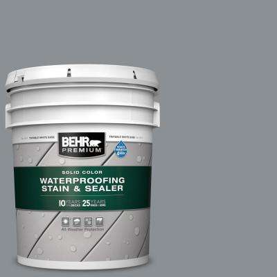 5 gal. #SC-125 Stonehedge Solid Color Waterproofing Exterior Wood Stain and Sealer