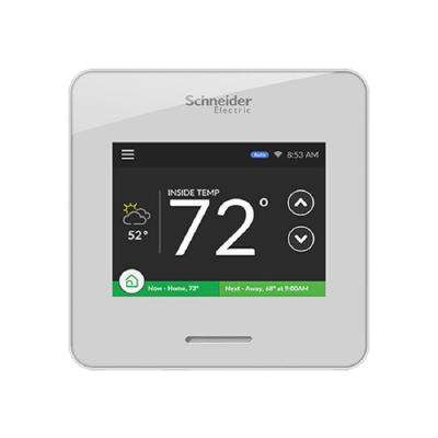Wiser Air Wi-Fi Smart Programmable Thermostat with Comfort Boost and Touch Screen Display in White