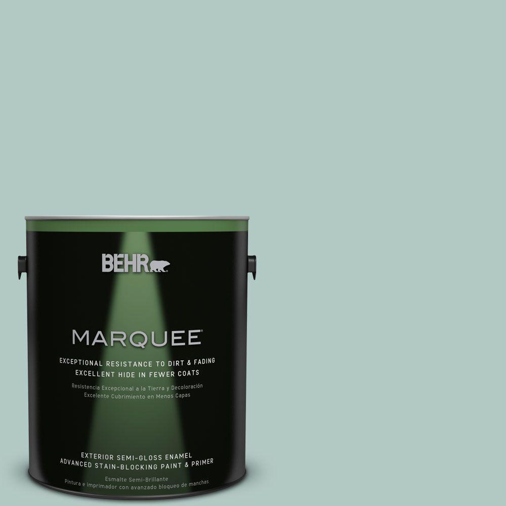 BEHR MARQUEE 1-gal. #S430-2 Fresh Tone Semi-Gloss Enamel Exterior Paint