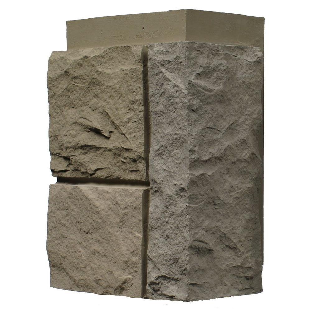 Random Rock Desert Buff 11 in. x 7 in. Faux Stone Siding Corner (4-Pack)
