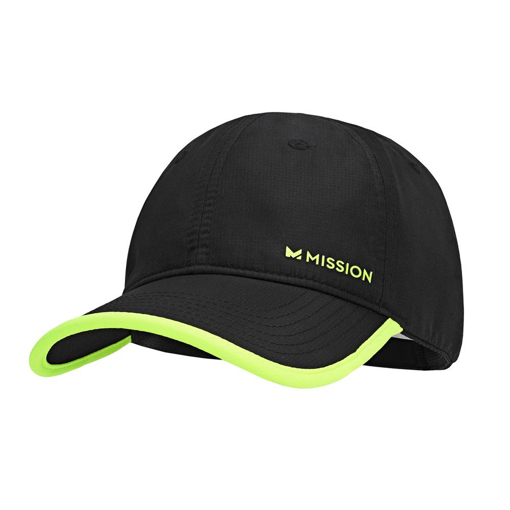 dd28a5e69ffc7 Mission Hydro Active Performance Hat in Black-109344 - The Home Depot
