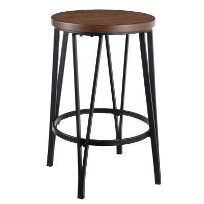 Proxima 24 in. Elm/Black Wood Seat Counter Stool