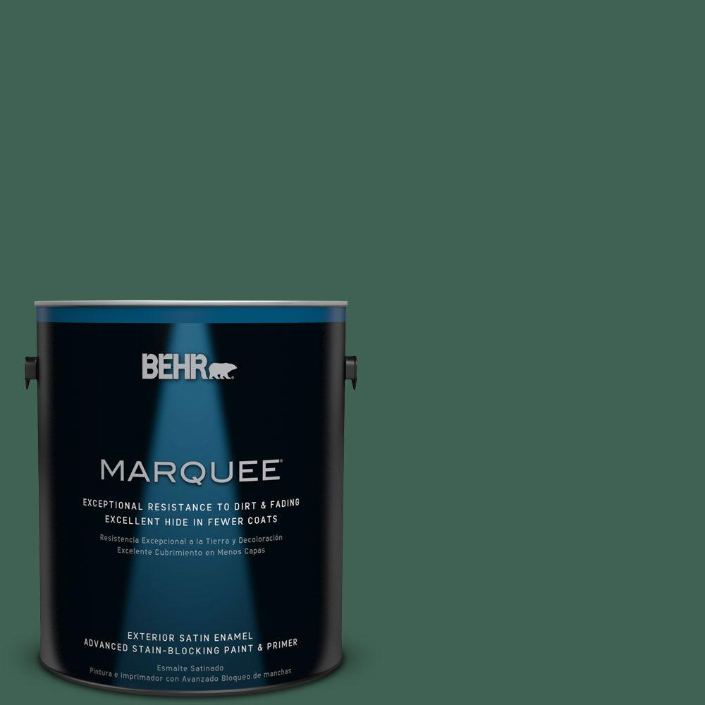 BEHR MARQUEE 1-gal. #M430-7 Green Agate Satin Enamel Exterior Paint