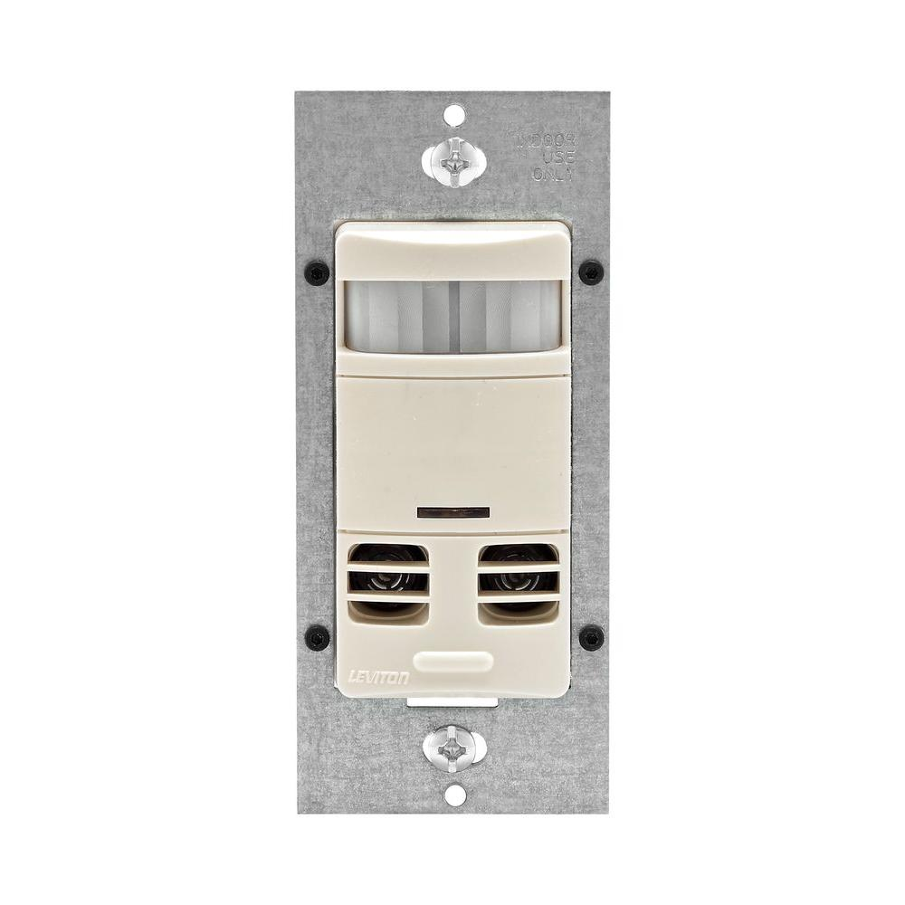Leviton Decora Dual-Relay Multi-Technology Deluxe Fan and Occupancy Sensor with Delay - Light Almond-DISCONTINUED