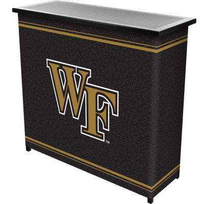 Wake Forest University 2-Shelf Black Bar with Case