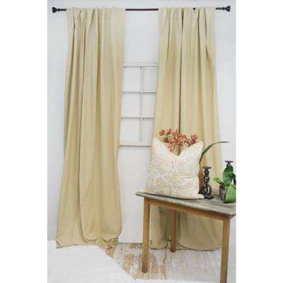 96 in. L Wheat Curtain Panel