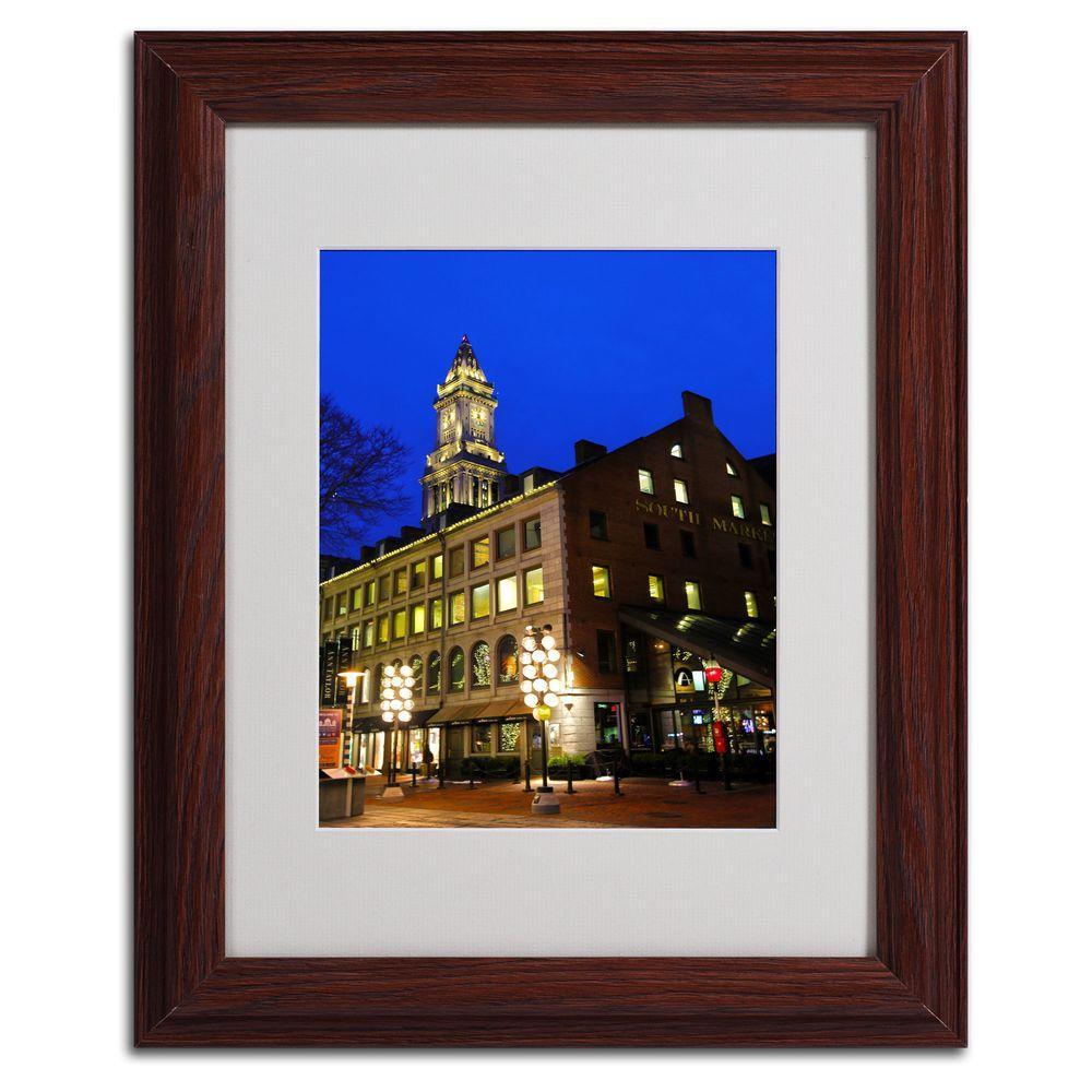 11 In X 14 Boston 3 Matted Framed Art MZ0214 W1114MF
