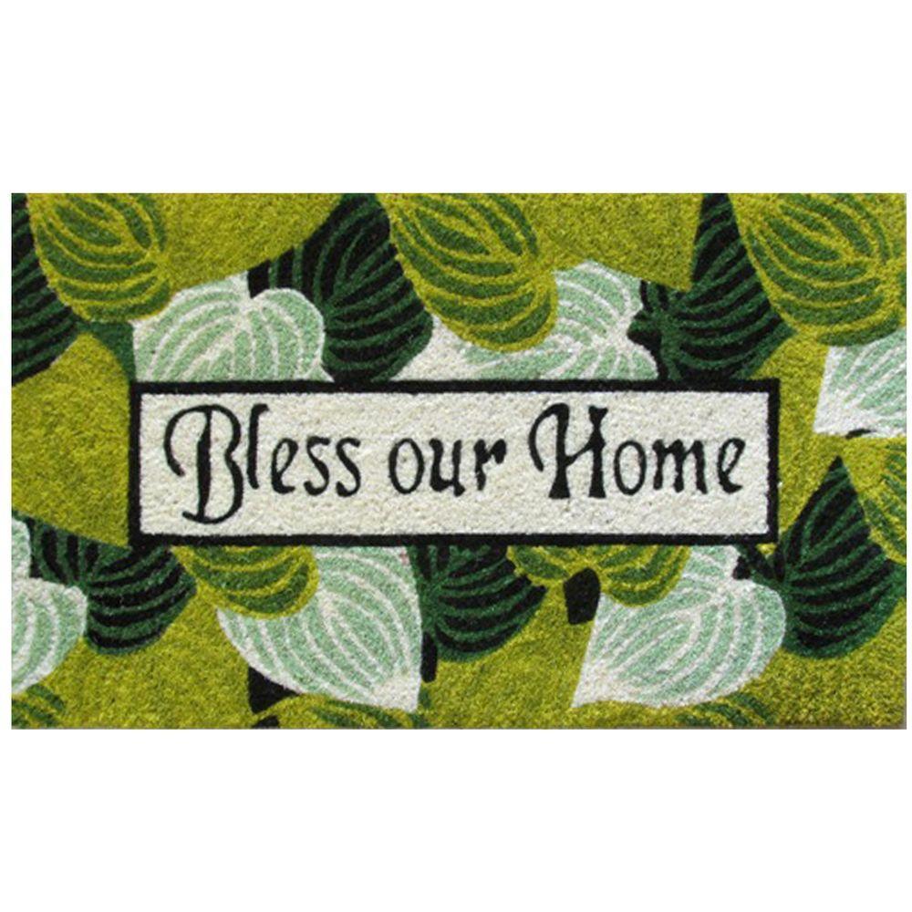 Robert Allen Home & Garden Bless Our Home 18 in. x 30 in. Coir Door Mat