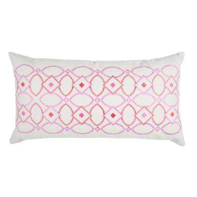 Geometric 14 in. x 26 in. Natural Decorative Filled Pillow