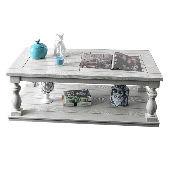 Arlington 19 in. Antique White Coffee Table