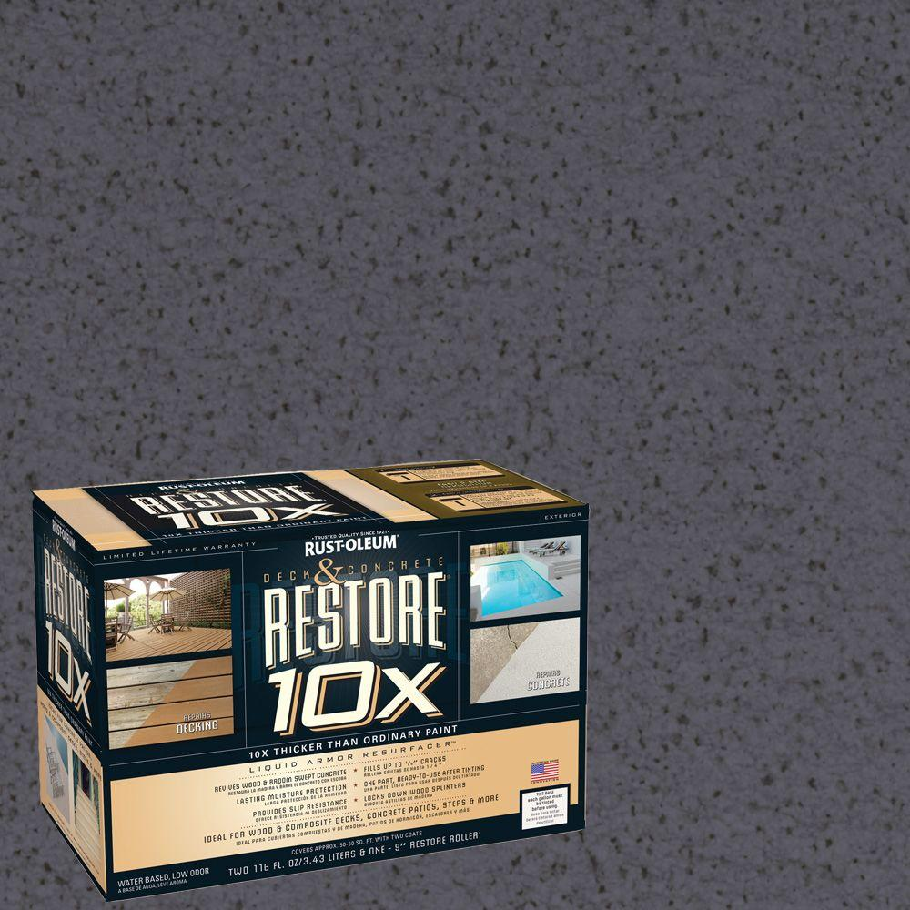 Rust-Oleum Restore 2-gal. Carbon Deck and Concrete 10X Resurfacer