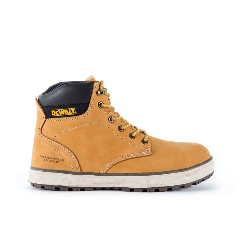 80e6b9ead DEWALT Plasma Men s Wheat Leather Steel Toe 6 in. Work  Boot-DXWP10007W-WHT-12 - The Home Depot